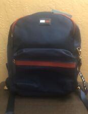 Tommy Hilfiger Tommy Navy Leah Dome Backpack Adjustable Shoulder Straps Nylon