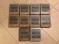 Wholesale Lot 10 Nintendo Super Famicom Console PARTS SFC AS IS Japan Import