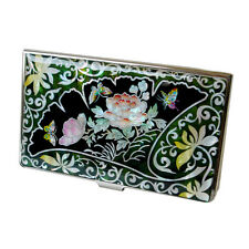 Mother of Pearl Business Credit Bank Card Case Name Money ID Holder Thin Wallet