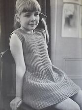 "Knitting Pattern - Girls 3-ply Sleeveless Party Dress 26 (28, 30, 32)"" Chest"