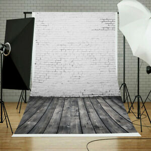 10x10ft Polyester Photo Backdrop Photography Background Empty Vintage Classroom Green Blackboard Brick Wall Black Brown Floor Wood Photo Background Books Globe Clock Chalkboard Student School Prop