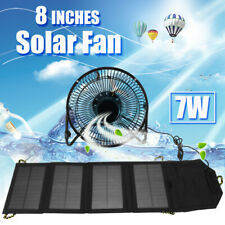 8'' USB Fan 5.5V 7W Foldable Solar Panel For Outdoor Home RV Cooling