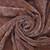 Golden Sands Crushed Velvet Chenille Plain Upholstery Fabric
