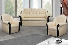Sofagarnitur Couch Sofa Polster Sitz Sofas Couchen 3+1+1 Schlafsofa Bettkasten
