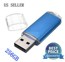 NEW USB 2.0 Sleek BLUE 256GB Thumb Pen Flash Drive Memory Stick Storage US Stock