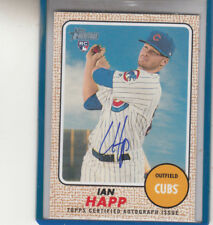 """2017 TOPPS HERITAGE  IAN HAPP RC """"CHICAGO CUBS"""" AUTOGRAPH AUTO"""