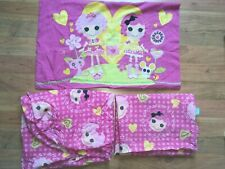 Lalaloopsy TWIN SIZE SHEET SET Flat Fitted Pillowcase SEW MAGICAL SEW CUTE