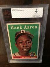 1958 Topps Hank Aaron Milwaukee Braves #30A Baseball Card