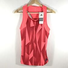 Adidas Climacool Club Tank Racerback Flared Pink Graphic Women's XS NWT