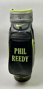 Used Black/Green/SilverNike Vapor Golf Staff Bag with Strap Embroidered Phill...