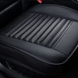 Black PU Leather Car Front Seat Cover Full Surround Cushion Breathble Pad Mat