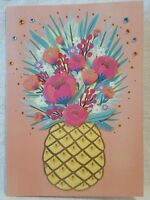 PAPYRUS Happy Mother's Day Mom Pineapple Flowers 3D Greeting Card