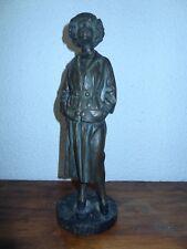 rare ancienne statue années 40 intitulée Trottin signée mais signature illisible