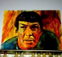 Star Trek aceo original attore  Mr spock  Leonard Nimoy art. pencil