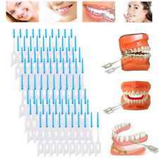 80pcs Tooth Flossing Head Oral Hygiene Cleaner Interdental Brush Toothpick NEW
