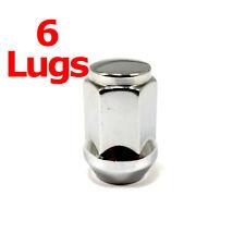 """6x Excalibur 1904 Lug Nuts 1/2"""" Bulge Acorn 3/4"""" Hex Chrome Closed End"""