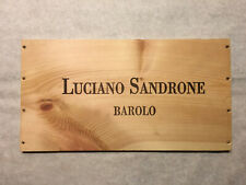 New listing 1 Rare Wine Wood Panel Luciano Sandrone Barolo Vintage Crate Box Side 7/20 19