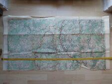 um 1910: Ardennen-Luxemburg-Pfalz. Karte des Deutschen Reiches 1:100.000