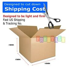 100 6x4x4 Packing Mailing Moving Shipping Boxes Corrugated Box Cartons 100 %