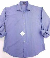 Tommy Hilfiger Blue Solid L/S Men's M 15-1/2 32-33 Lifetime Collar Shirt French