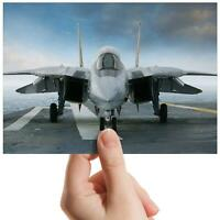 "F-14 Airplane Military Jet Small Photograph 6"" x 4"" Art Print Photo Gift #14189"
