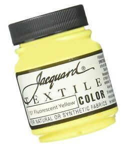 Jacquard Products Textile Color Fabric Paint 2.25-Ounce, Fluorescent Yellow