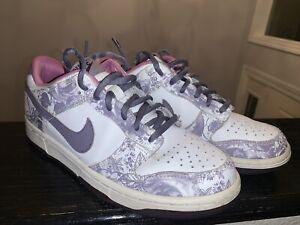 Nike Dunk Low Flora Purple Steel White 309601-153  Sz 6Y Women's