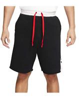 Nike Air Loose Fit Sweat Fleece Shorts Black White CW4711-011 Men's NWT