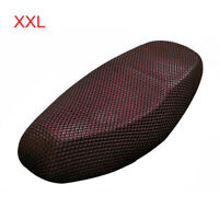 XXL Black Red Motorcycle Net Mesh Seat Full Cover Breathable Protector Cushion