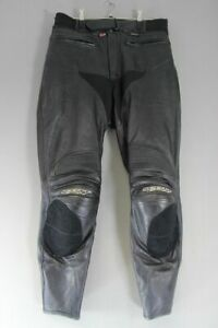 BRITISH MADE SCOTT LEATHERS BLACK BIKER TROUSERS + CE ARMOUR WAIST 30IN/LEG 30IN