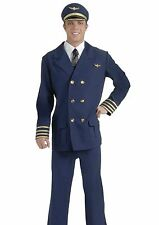 Airline Pilots Costume Adult Mens Jet Captain Captains Uniform - Fast Ship -