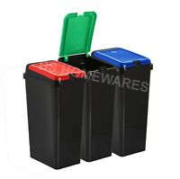 45L Touch Top Bin Plastic Recycling Bins Waste Dustbin Recycle Rectangle Bucket