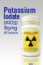 KIO3 90 pills Potassium Iodate Nuclear Anti-Radiation - Expiration 2025