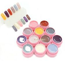 12 Pure colori LED UV gel del costruttore Soak Off UV Naturale Set Nail Art