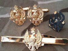 Kings Royal Hussars Cufflinks, Badge, Tie Clip Military Gift Set