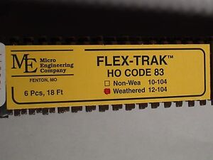 HO Micro-Engineering #12-104 HO-SCALE Code 83 Flex Track WEA.