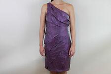 London Times One Shoulder Shutter Pleat Dress, Grape, 8, NWT.  $109