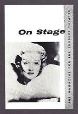 """In Person"" MARLENE DIETRICH Burt Bacharach / Shai K. Ophir 1960 Detroit Program"