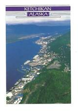 KETCHIKAN AK Aerial View Revillagigedo Island Postcard Old Alaska PC