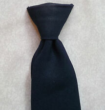 VINTAGE CLIP-ON TIE MENS READY TIED OFFICE SECURITY 1970'S 1980'S NAVY BLUE