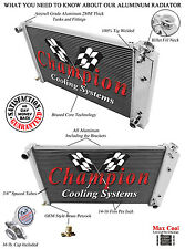 Champion Racing 4 Row Aluminum Radiator For 1963 - 90 Chevy/GM Cars