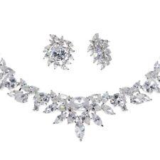 Eternal Spark Crystal Necklace & Earrings Set Bridal CZ Cubic Zirconia CRYSTALA