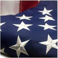American Flag 2.5x4 ft 420D Nylon UV Protected Embroidered Stars Outside US Flag