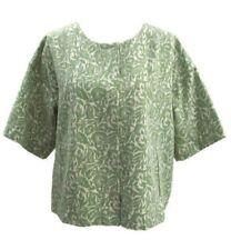 Liz Claiborne Women's Dress Jacket Green White Floral Formal Career Size XL