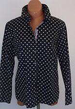 FOXCROFT Black White Polka Dot Cotton Shirt Shaped Fit Ribbon Placket Size 16
