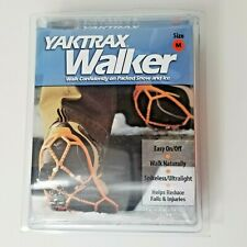 New Yaktrax Walker Slip-On Traction Cleats for Snow and Ice Size M Safety Orange