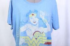 Junk Food Wonder woman blue yellow tee t shirt