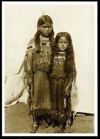 ⫸ 932 Postcard QUANAH PARKER'S DAUGHTERS, Comanche - 1891 Photo James Mooney NEW