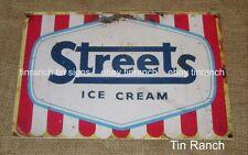 STREETS ICE CREAM TIN SIGN New vintage Australian retro rustic metal advertising
