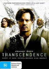 TRANSCENDENCE DVD=JOHNNY DEPP=REGION 4 AUSTRALIAN RELEASE=NEW AND SEALED